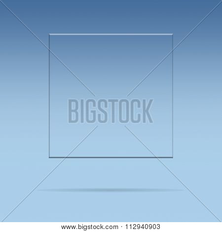 Glass Plate With Copy Space