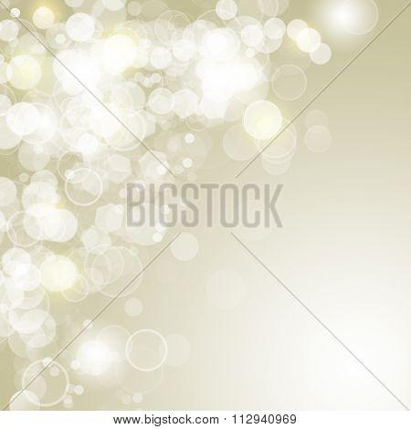 Lights On Gold Background