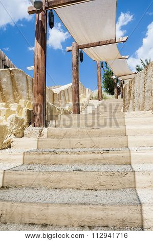 Stone Stairs In Exotic Place