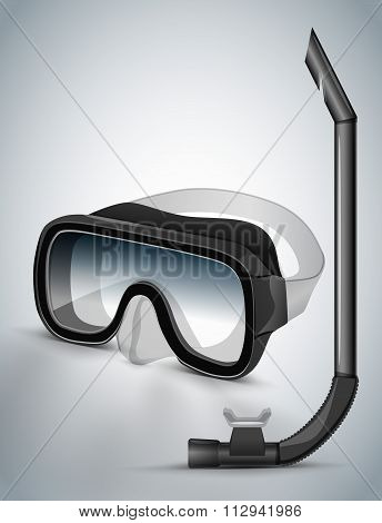Diving goggles diving mask black