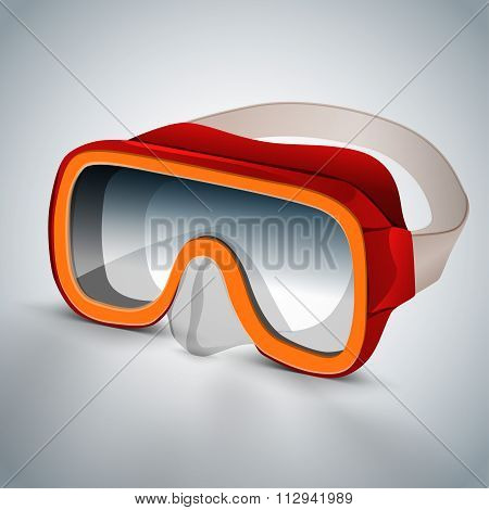 Diving goggles red