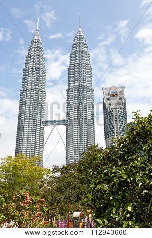 Kuala Lumpur skyline during morning