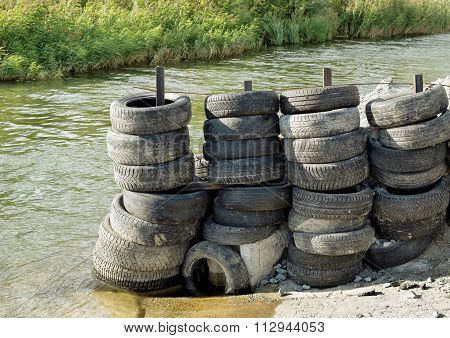 Storage Of Old Tires Outdoors