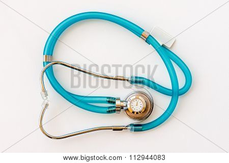 Expensive Health Treatment.  Stethoscope On Money Background