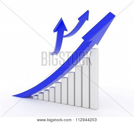 Blue Arrow Growth Diagram