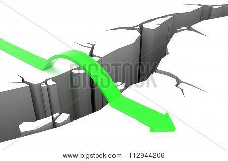 Arrow Jumps Over Rift