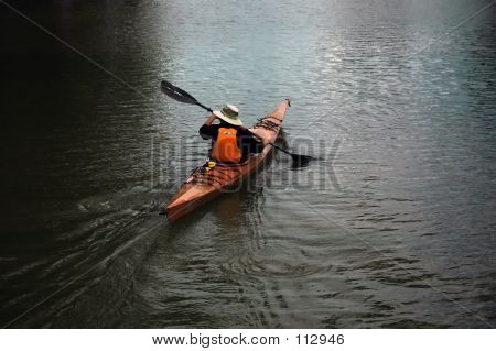 Man Canoing