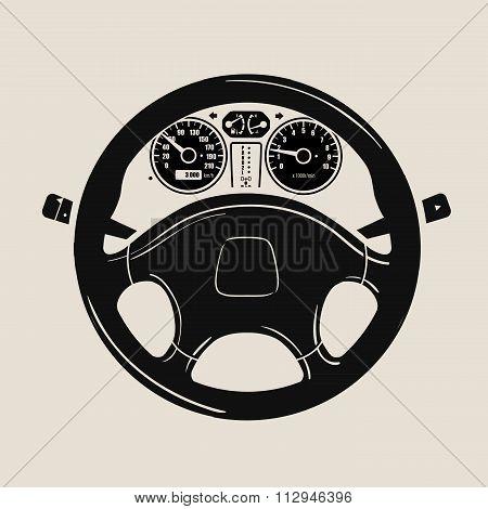 car steering wheel icon