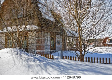 Cottage Covered With Snow