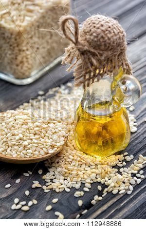 Sesame Oil In Bottle