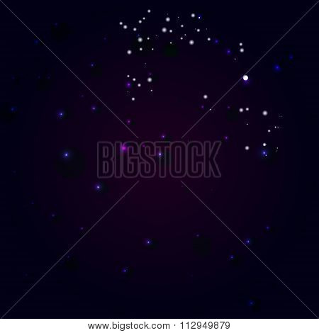 Abstract constellation in a universe.