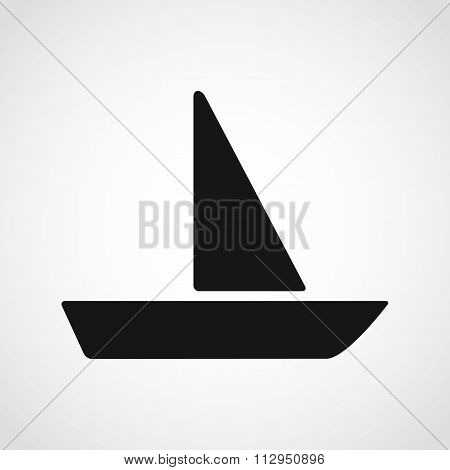 Sailing Boat Icon.