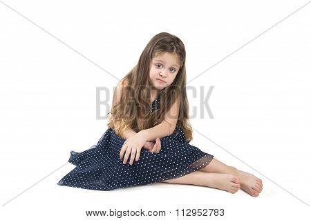 Little Girl Grimacing..