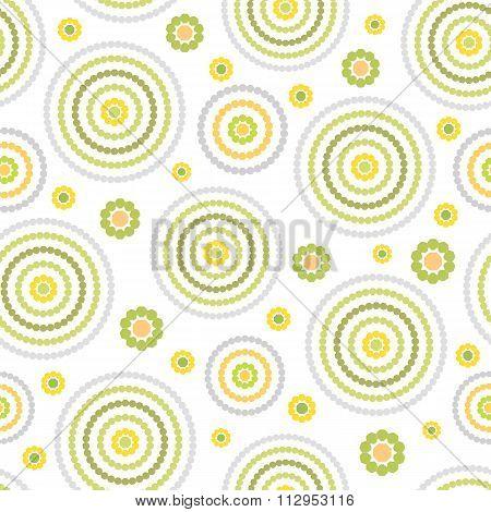 Abstract Seamless Geometric Circlel Pattern
