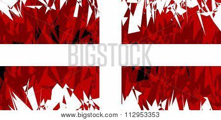 Flag Of Order Of Malta.