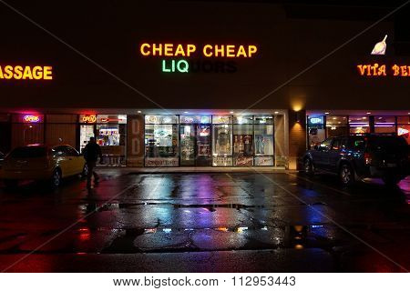 Cheap Cheap Liquors at Night