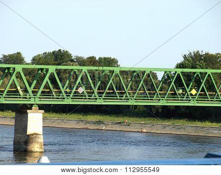 Railway Bridge Over The River Drava In Osijek