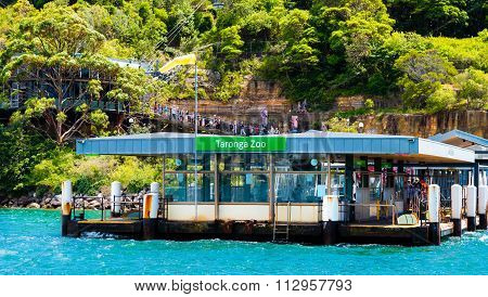 Taronga Zoo ferry station in Sydney, Australia