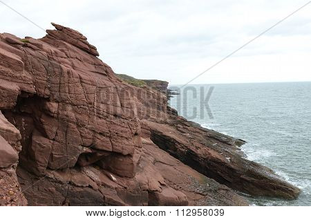 CLIFFS IN ARBROARTH SITY