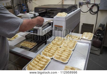 Packaging Of Dumplings Production