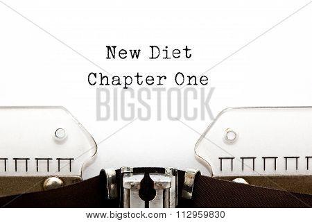 New Diet Chapter One Typewriter