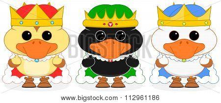 Three Wise Ducklings Vector