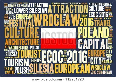 Wroclaw, Poland, European Capital of Culture 2016 word cloud