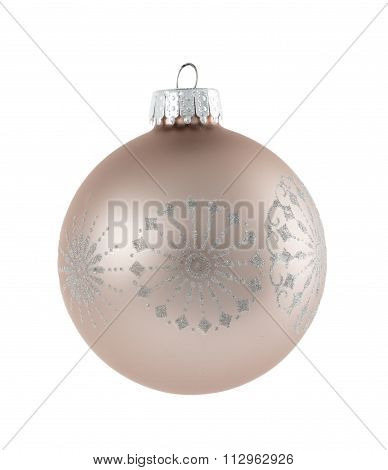 Single Christmas Decoration Isolated Against White