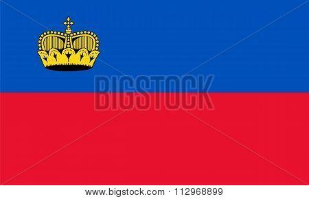Standard Proportions For Liechtenstein Flag