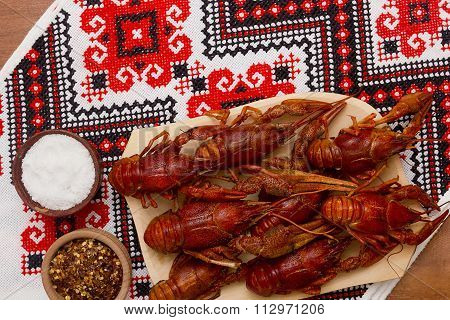 Crayfish Cooked For Serving