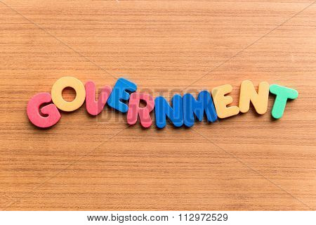 Government Colorful Word