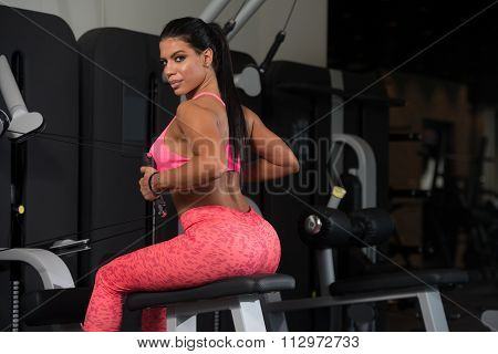 Mexican Woman Doing Exercise For Back