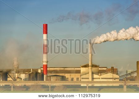 pollution of a factory
