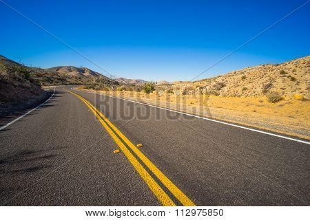 Banked Desert Road