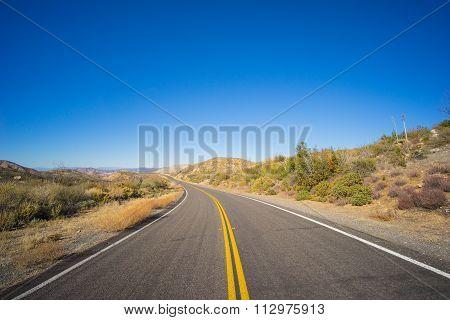 Barren Desert Highway Road