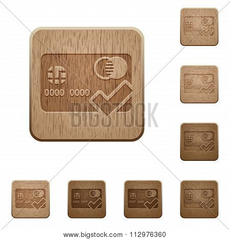 Accept Credit Card Wooden Buttons