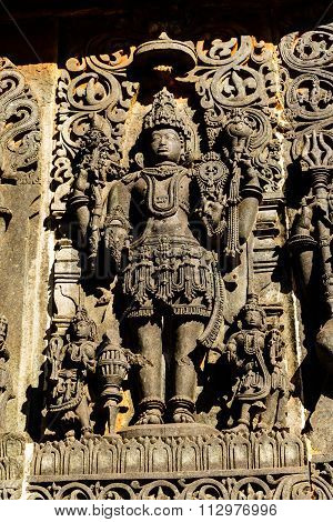 Statue of Lord Vishnu at Chennakesava temple at Belur, Karnataka taken on December 30th, 2015