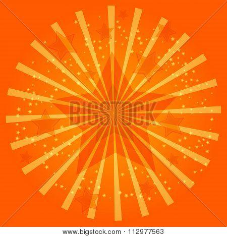 Orange Celebration Light Star Illustration