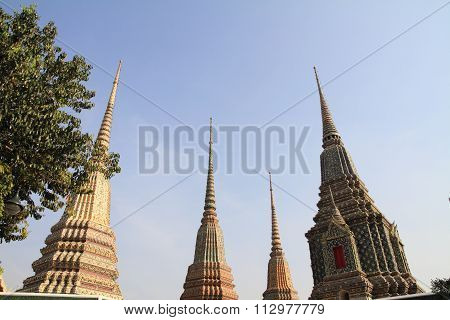 Wat Pho (Temple of the Reclining Buddha) in Bangkok Thailand