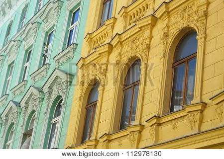 Colourful old austrian flats
