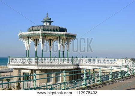 Band stand by the sea