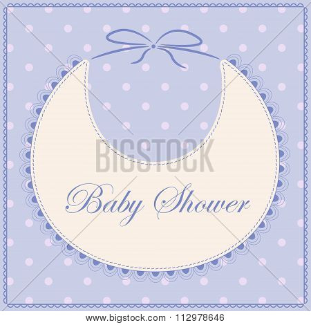 Baby shower with bib blue vintage