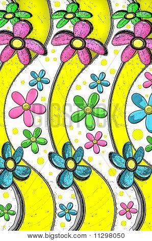 Alpha Flower Girl Sketched Background