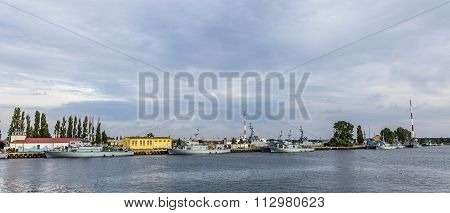 Marine Harbor In Swinemuende, Polan