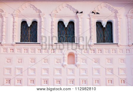 The Decoration Of The Facade Of The Church Of St. John The Evangelist In Rostov Veliky (russia).