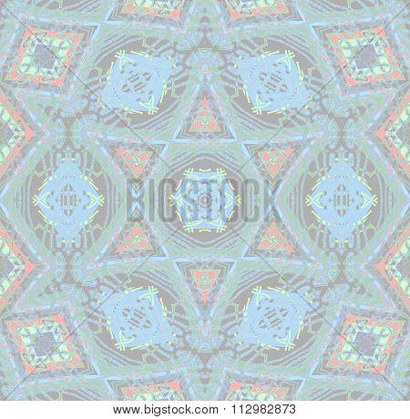 Seamless diamond pattern gray blue pale red