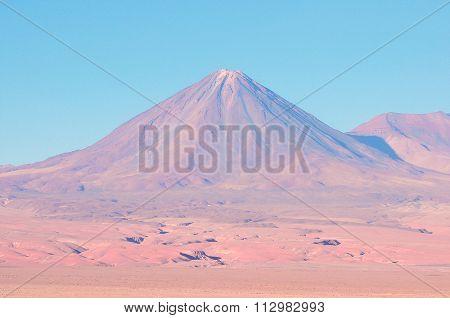 Volcano Licancabur by San Pedro de Atacama.