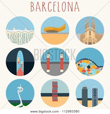 Barcelona icons - city landmarks
