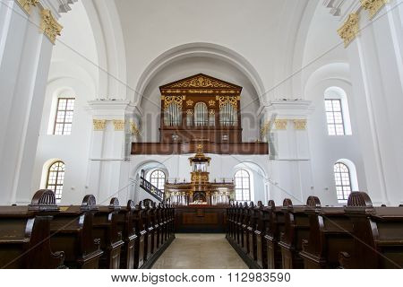 Inside Of The Reformed Great Church Of Debrecen