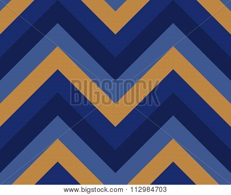 Seamless geometric strip pattern. Stripy texture. Zigzag line background. Diagonal strips. Blue, yel